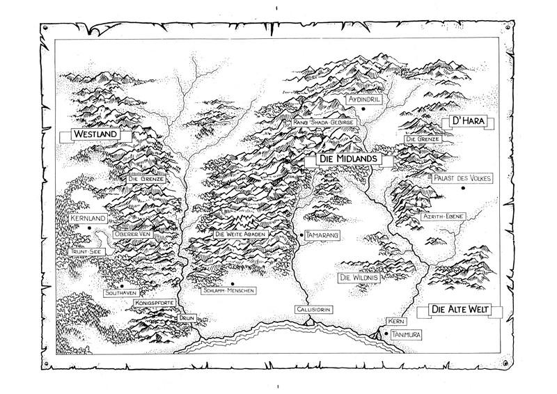 """Weltkarte zu """"Das Schwert der Wahrheit"""""""